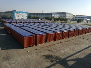 Op top container tarps in use