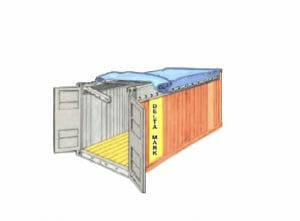 Open Top Shipping Container tarps